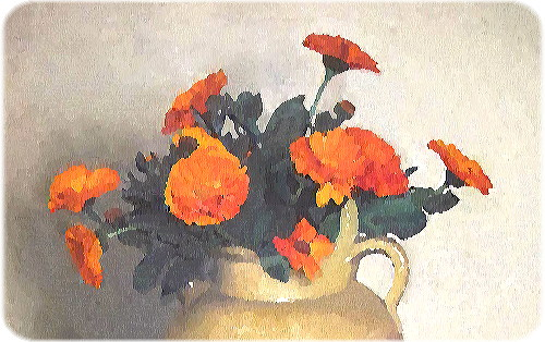 Altered Marigold painting by Félix Valliton