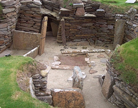 Scottish proverbs and sayings fronted by Skara Brae in the Orkneys, Scotland