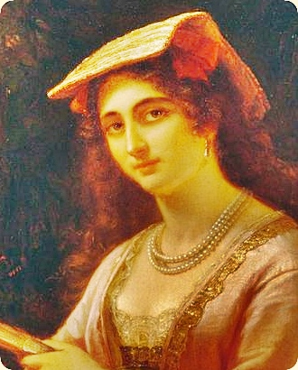 A Neapolitan Woman. 1876. by Friedrich Dürck. Modified section