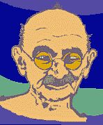 Mahatam Mohandas Gandhi Quotations. Illustration by Tormod Kinnes