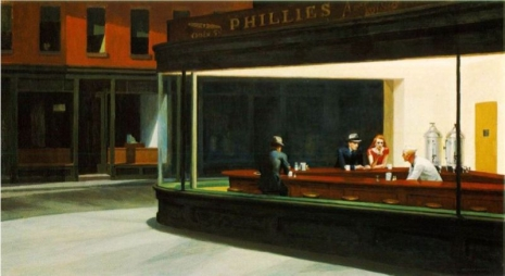 EDWARD HOPPER. NIGHTHAWKS. 1942.