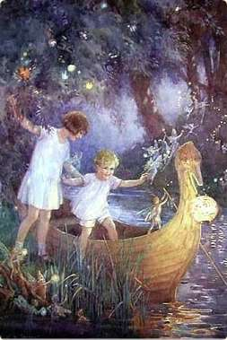 Margaret Tarrant. Boat to Fairytales. Section