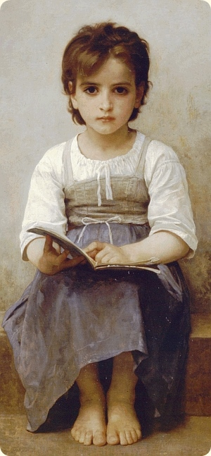 Bouguerou. The Difficult Lesson, 1884. Section