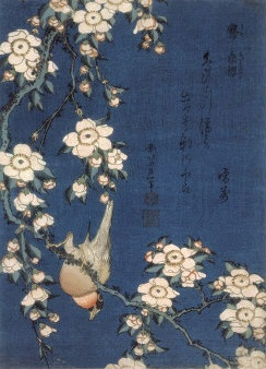 Bible Absurdities and KATSUSHIKA HOKUSAI. GOLDFINCH AND CHERRY TREE