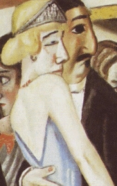 Max Bechmann. Dance in Baden-Baden. 1923. Slightly modified detail.