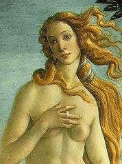 BOTTICELLI. BIRTH OF VENUS. SECTION.