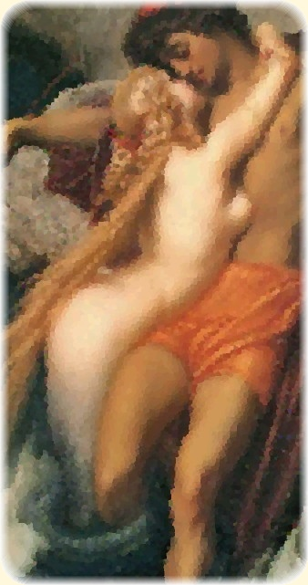 Frederic Leighton, 1st Baron Leighton (1830–1896): The Fisherman and the Syren, ca. 1856. Modified selection.