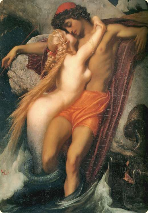 Frederic Leighton, 1st Baron Leighton (1830�1896): The Fisherman and the Syren, ca. 1856. Selection.
