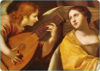 MADAME D'AULNOU fairy tales and Saint Cecilia by Jacques Blanchard, 17th cent., mod. section.