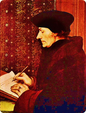 From Erasmus of Rotterdam, by Hans Holbein. Modified