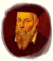 Portrait of Michel de Nostredame (Nostradamus) by his son César de Nostredame