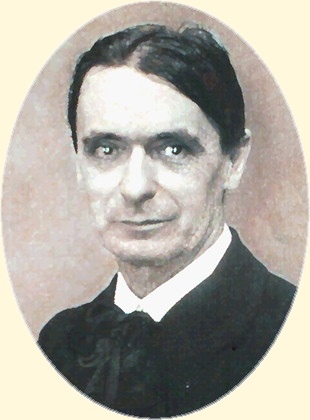 Rudolf Steiner, founder of Anthroposophy. Section of much modified photo