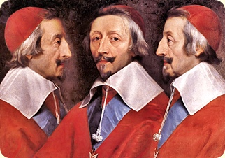 Armand-Jean du Plessis, Duc and Cardinal de Richelieu (1585 - 1642). He became a cardinal in 1622 and Chief Minister of France.