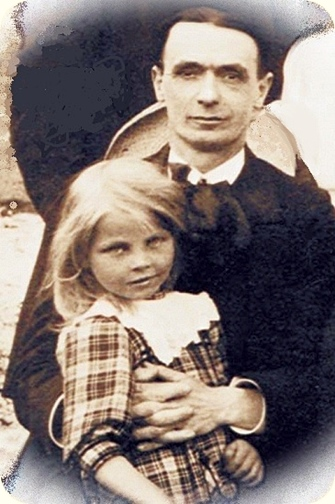 Waldorf Education, Rudolf Steiner Education - Rudolf Steiner and a girl - Picture somewhat manipulated from a book cover