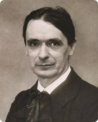 Rudolf Steiner, founder of Anthroposophy. Section of lightly modified photo