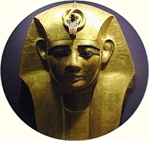 Funerary mask of King Amenemope of the 21st dynasty of Egypt