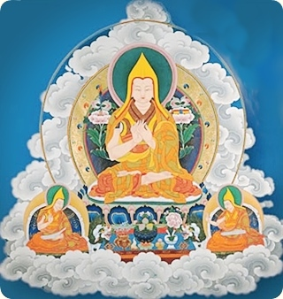 Lama Tsong Khapa fronting Buddhist Tantra Teachings of Tibet
